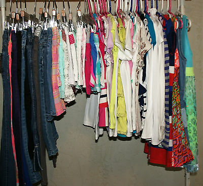 60 Pc Lot Girls Sz 7 8 7/8 Clothes Spring/summer Justice Gymboreee Gap Mossimo