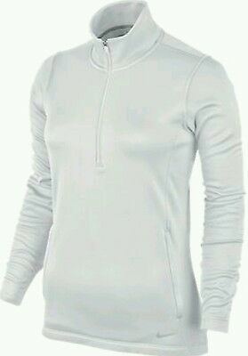 Nike Womens Thermal 1/2 Zip Pullover Golf Top White Xl Bnib
