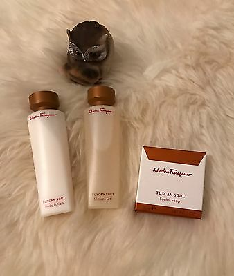 Salvatore Ferragamo Geschenk Set, Body Lotion, Seife, Shower Gel NEU