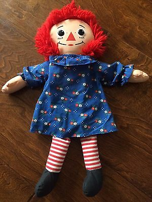 "Raggedy Ann 18 ""Collectors Original Doll with Heart by Playskool 1987 Vintage"