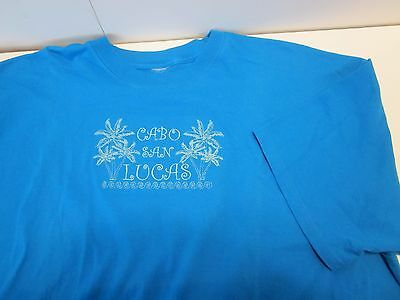 3XL Tee T Shirt Embroidered Cabo San Lucas
