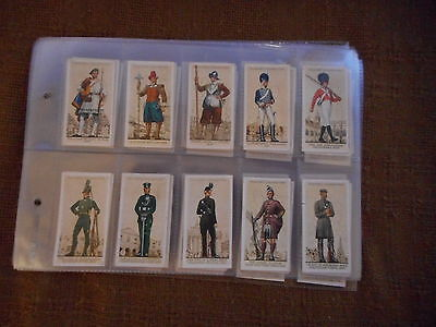 Full Set Cigarette Cards - Players Uniforms Of The Territorial Army