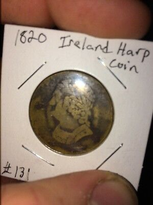 1820 Bust And Harp Colonial Coin F