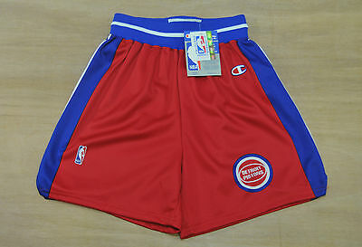 Detroit Pistons - Size L - Vintage Champion NBA Basketball Shorts - New & Tags