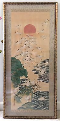 Antique Japanese Painting on Silk