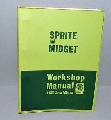 Original Old BMC Service Workshop Manual For The MG Sprite And Midget - 1960's ?