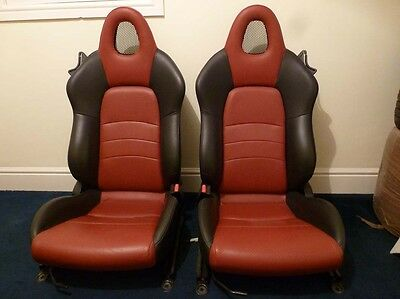 Honda S2000 RED AND BLACK LEATHER SEATS (Pair). Description regarding DELIVERY