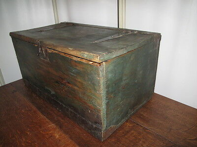 Antique Wooden Box Storage Coffee Table Old Vintage Wooden Box