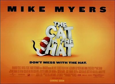 2x The Cat In The Hat - Mike Myers - Original UK Mini Quad Posters