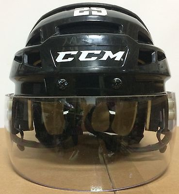 CCM V08 Pro Stock Hockey Helmet Medium Oakley Extended Cut Visor Black 5070