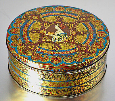 Vintage Hostess Lithographed Round Tin Box