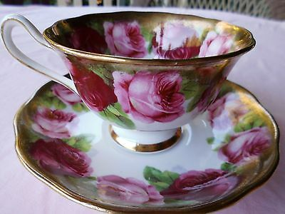 Royal Albert, Cup and Saucer,Crown China, England,Old English Rose