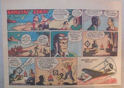 Smilin' Jack Sunday Page by Zack Mosley from 5/10/1936 Half Tabloid Page Size!