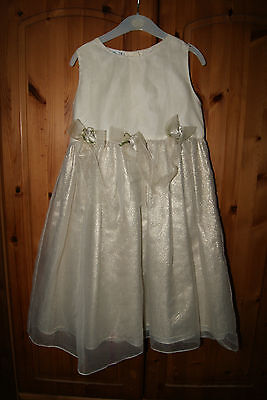 IVORY and GOLD formal girls Party Dress size 6