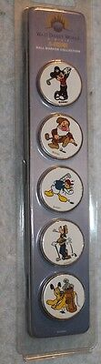 Disney golf ball markers. Set of 5 solid metal Disney character ball markers.