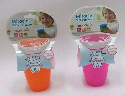 Miracle 360 Sippy Cup Pack Of 2 Pink/Orange 10 Ounce Cup