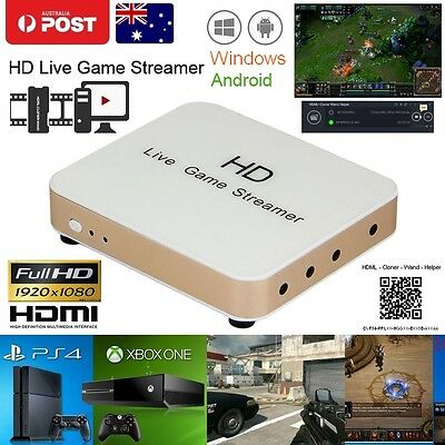 HD Live Game Stream Box Capture HDMI Video Recorder Grapper Box For PC TV Laptop