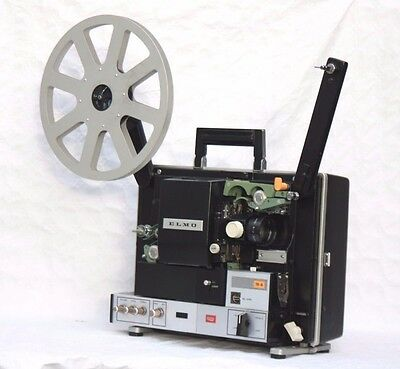 quality 16mm Elmo 16a sound (magnetic/optical) projector with 50mm f1.2 lens.