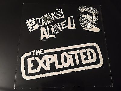 "The Exploited ""punks Alive""  1988 Uk Skunk Recordings  4 Track 12"""