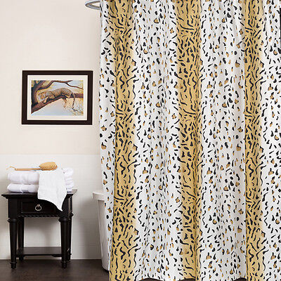 Animal Print Fabric Shower Curtain Exotic Brown & Beige ...