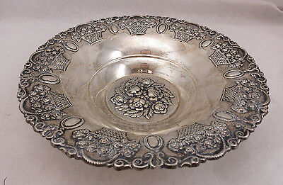 Sterling Silver 925 Fruit Candy Nut Dish Bowl 140 Grams