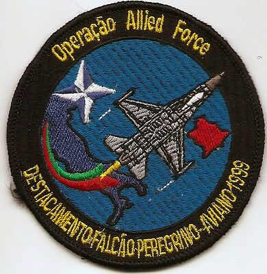 Portuguese Air Force Portugal F-16 201 / 301 Esquadra Allied Force  Patch Parche