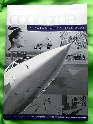 Concorde A Celebration 1976 - 2003 - Sept- Oct 2003 Brochure.