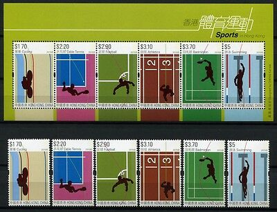 HONGKONG 2015 Sport Table Tennis Football Badminton Swimming Cycling ** MNH