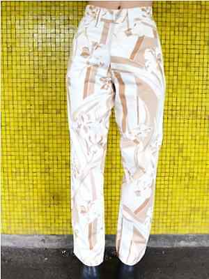 VTG VERSACE Abstract Beige High waisted Mom Jeans