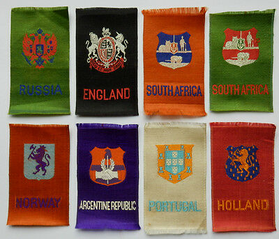 CRESTS ARMS SYMBOLS of COUNTRIES 1910/15 Imperial Tobacco Woven Silk Ref SC12