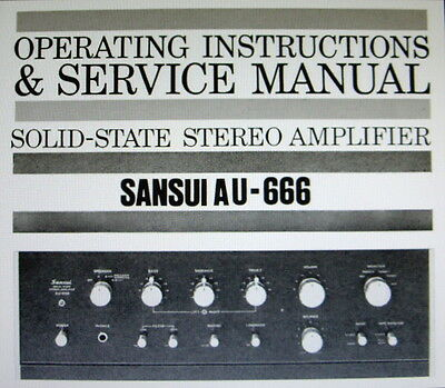 Sansui Au-666 Ss St Amp Operating Instructions And Service Manual Bound English