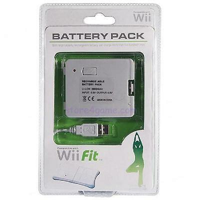 HIGH CAPACITY 3800mAh USB RECHARGEABLE BATTERY PACK FOR Wii FIT BALANCE BOARD
