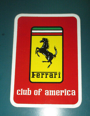 "FERRARI Club of Amercia Vintage Sticker 3.5"" x 5"" -  246 308 328 365 512 Mondial"
