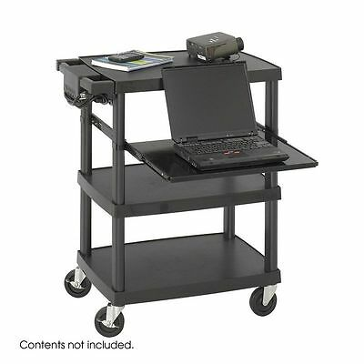 Safco 8929BL Multimedia Projector Cart, Black NEW
