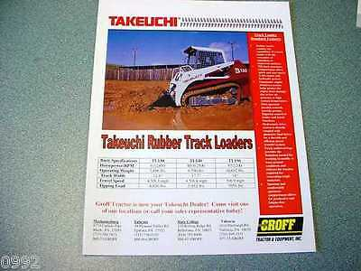 Takeuchi TL130, TL140, TL150 Rubber Track Loader Brochure