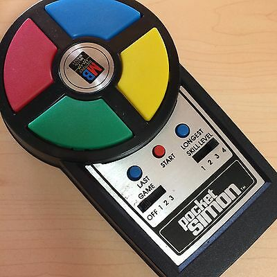 Vintage Pocket Simon 1980s Hand Held Game Original Box & Instructions