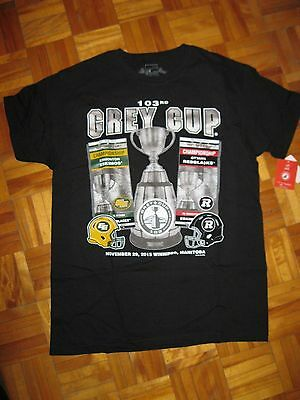 2015 Ottawa RedBlacks Grey Cup 103 T-shirt - MEDIUM (NEW with Tags)