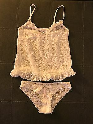 Victoria's Secret lace Cami Set- White- Small- Valentine's Day Gift