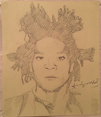 Andy Warhol Drawing signed - Basquiat