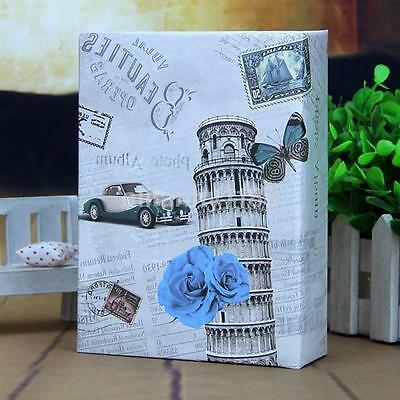 "6""x4"" Slip In Photo Album For 200 Holds Vintage Leaning Tower Baby Memory Book U"