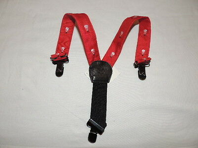 NEW JANIE AND JACK Snowman Lane Red Suspenders 0 3 6 months NWT