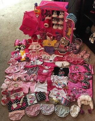 HUGE Build A Bear Lot!!! Pink Closet, Girl Bear Clothing Shoes & Accessories