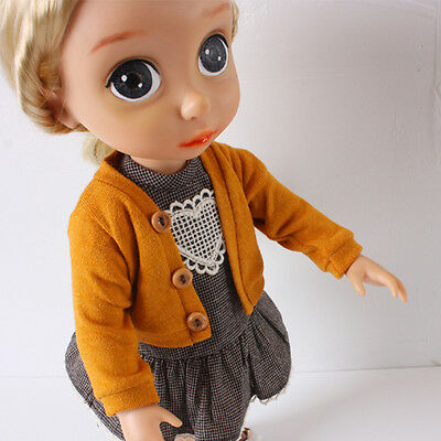 Disney Baby Doll Clothes / Yellow Cardigan / Animator's collection 16inch