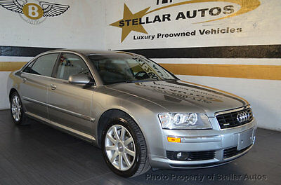 2005 Audi A8 4dr Sedan 4.2L quattro LWB Automatic 18 SERVICE RECORDS CLEAN CARFAX 3 MONTH 3000 MILE NATION WARRANTY FREE SHIPPING