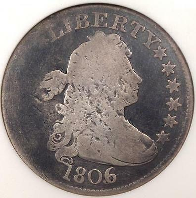 1806/5 Draped Bust Quarter 25C - ANACS VG Details (Net G4) - Rare Early Coin!