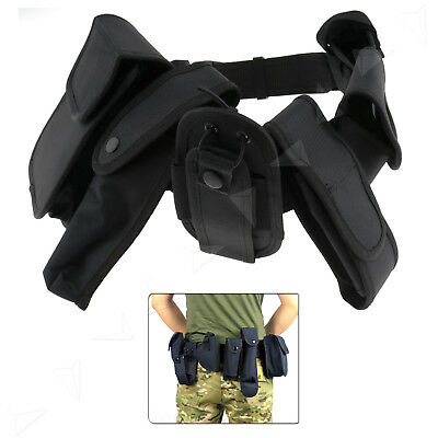 Pouch System Quick Release Security Army Guard Utility Patrol Men Belt