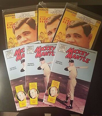 Babe Ruth Comic and Mickey Mantle Comic