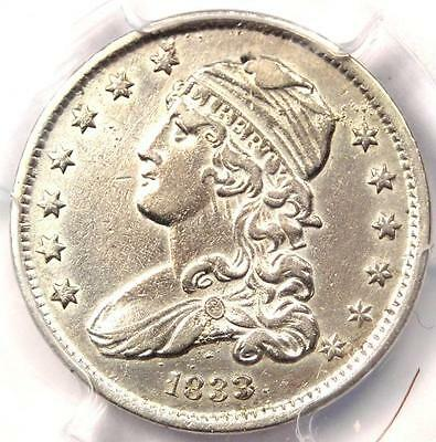 1833 Capped Bust Quarter 25C - PCGS AU Details - Rare Early Date Coin in AU!