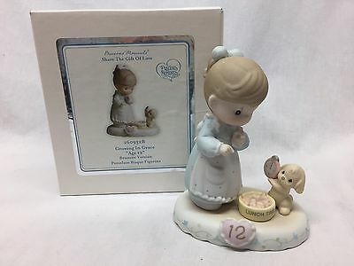 Precious Moments Growing In Grace Birthday Figurine Age 12 Brand New N Box Girl