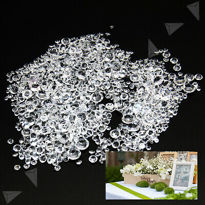 1000 Mixed Size Wedding Decoration Scatter Crystals Table Diamonds